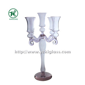 Glass Candle Holder with Five Posts (10*18.5*37) pictures & photos