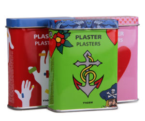 First Aid Metal Tin Case for Band-Aid pictures & photos