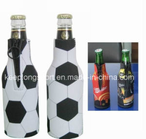 Fashion Heat Transfer Printing Neoprene Bottle Holder, Neoprene Bottle Cooler, Stubby Beer Holder
