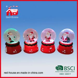 Christmas Ornament Snow Globe Santa Claus Crystal Water Globe