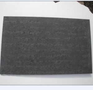 Brushed and Flamed Surface for Black Basalt Slab pictures & photos
