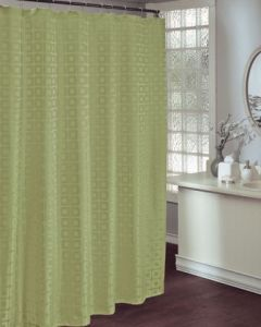 Hotel Bathroom Curtain Polyester Green Fabric St1804 pictures & photos