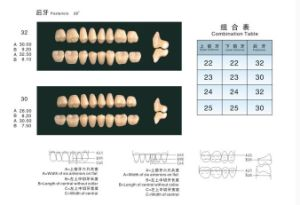 Three-Layer Acrylic Resin Teeth (A quality) pictures & photos