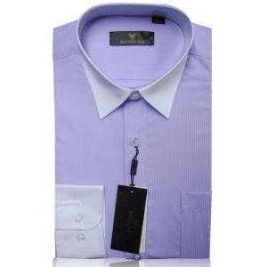 2016 Hot Puple Color Business Men Shirt Leisure Blouse