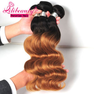Hot Sale Ombre Color Peruvian Human Hair Straight pictures & photos