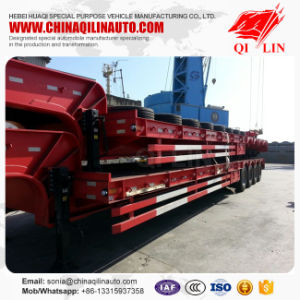 4axle Heavy Duty Lowbed Semi Trailer pictures & photos