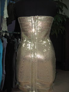 Bodycon Bridemaid Sequin Tube Gold Stamping Package Hip Dresses pictures & photos