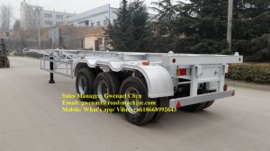 3 Axles 50 Tons Skeleton 40FT Container Semi-Trailer with Fuwa/ BPW Axle pictures & photos