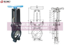 Non-Rising Stem Ductile Iron Knife Gate Valve pictures & photos