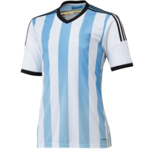Maillot De Foot New 2014 World Cup Argentina Home Blue Camisetas De Futbol Short Sleeve Football Shirts and Argentino National Team Soccer Jerseys Uniforms Kit