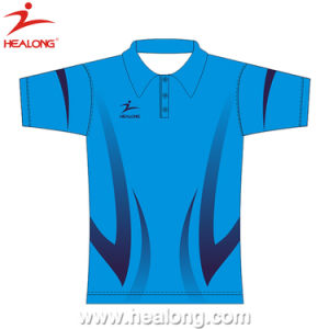 Healong Customized Sportswear Top Brand Full Sublimation Polo Shirt pictures & photos