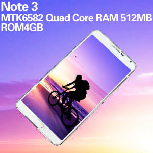 Smartphone Note Mt6582 1.2GHz Quad Core RAM 512MB ROM 4GB 5.7 Inch 3G Android Unlocked Phones