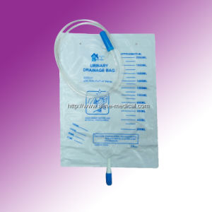 CE/ISO 2000ml Urine Bag with T Valve (MW41B) pictures & photos