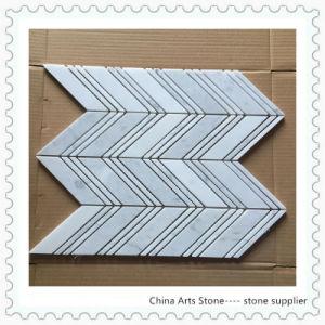 Bianco Carrara Marble Mosaic (strip) pictures & photos