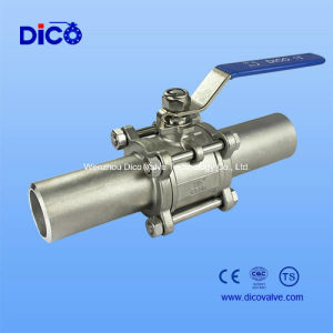 3PC Ball Valve with Long Type Butt-Weld End pictures & photos