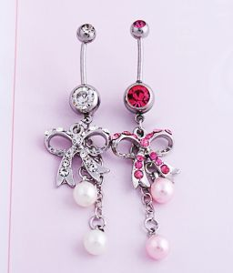 Bow Diamond Pearl Navel Jewelry Piercing Fashion Jewellery pictures & photos