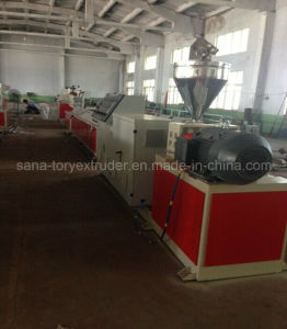 Twin-Screw Extruder Machine for PVC WPC Window and Dorr Profile pictures & photos