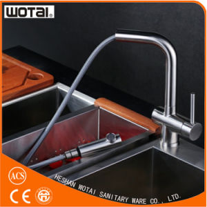 (WT1035ST-KF) Stainless Steel Single Lever Pull out Kitchen Faucet pictures & photos