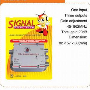3-Way CATV Signal Amplifier, CATV Housing Amplifer (8620SA3) pictures & photos