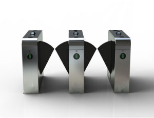 Biometric RFID Controlled Flap Barrier Gate Tunrstile TH-FGB203 pictures & photos