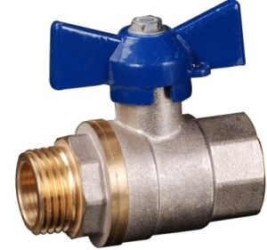 1/2 Forged Brass Ball Valve with Aluminium Butterfly Handle (YED-A1033)