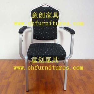 Black Fabric Armrest Chair (YC-D105) pictures & photos