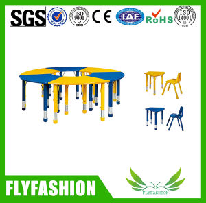 Adjustable Children Furniture School Table and Plastic Chairs (SF-18C) pictures & photos