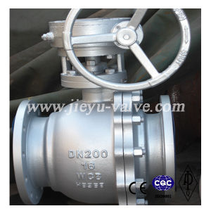 DIN Pn16 Wcb Worm Gear Floating Ball Valves pictures & photos