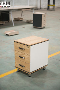 Customize Wooden Mobile Pedestal Drawer Cabinet with 3 Drawer
