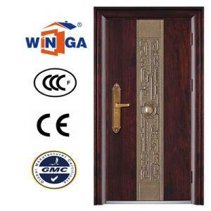 2.0mm Frame New Design Home Safety Steel Doors (W-S-23) pictures & photos