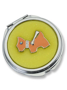 Lovely Yellow Pocket Mirror with for Young Ladies (MX108B) pictures & photos