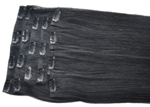 Straight Human Hair Clip on Hair Extension pictures & photos