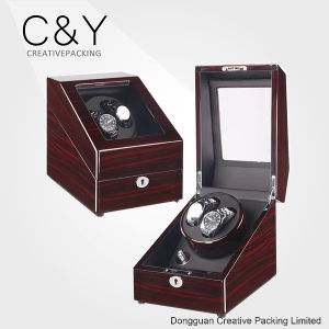 Lockable Piano Lacquer Cherry Wood Automatic Watch Winder pictures & photos