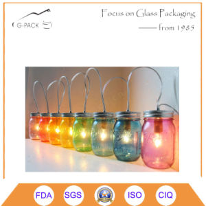 Decorative Glass Lantern Jars with Handle pictures & photos