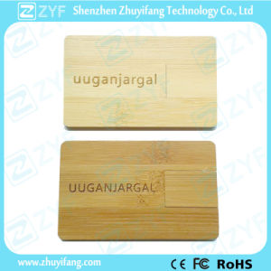 Bamboo Business Card USB Drive with Laser Logo (ZYF1356) pictures & photos