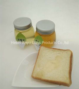 Food Grade Small 375ml 500g Round Flat Jam Glass Jar Honey Jar with Lid pictures & photos