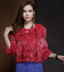 Women′s Winter Warm 100% Mink Fur Short Coat