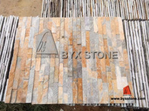Rusty Yellow Quartzite Culture Stone for Wall Cladding pictures & photos