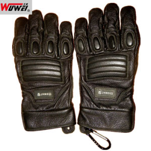 High Quality Leather Military Police Tactical Gloves pictures & photos