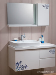 Lacquer Oppein Bathroom Cabinet (OP-W1162-100W)