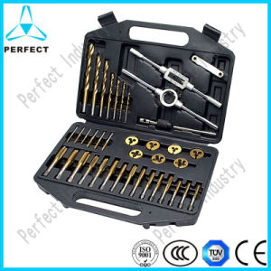 39PCS DIN Tap Die Drill Set in Plastic Box pictures & photos