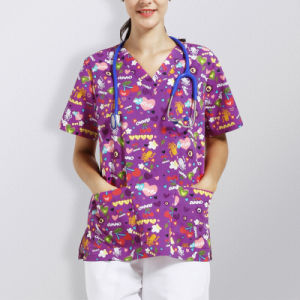 Wholesale Hospital Customed Printed Scrubs Uniforms for Nurses pictures & photos