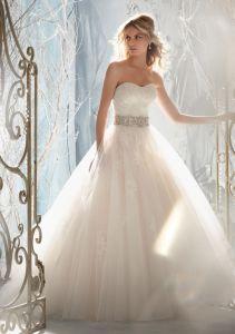 Lace Appliques Ball Gown Bridal Wedding Dresses (WMA3051) pictures & photos