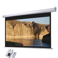 Electric Projection Screen with Wireless Remote