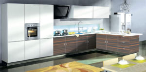 Modern Acrylic Demet Wood Grain MDF Panel / Kitchen Cabinet pictures & photos