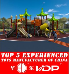Outdoor Children Playground Plastic Slide Toys Equipment Used (HD15A-039A) pictures & photos
