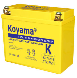 SMF Motorcycle Battery 11ah 12V (KBT12B4) pictures & photos