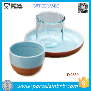 Attractive Ocean Blue Ceramic Cup and Plate Set Dinner Set pictures & photos