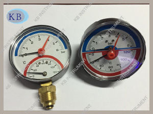 D80 Red Adjustable Pointer Pressure and Temperature Gauge pictures & photos