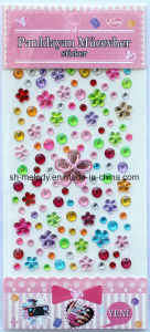 Multi-Colored Flower Rhinestone Stickers/Gem Stick-Ons/Mobile Phone Stickers pictures & photos